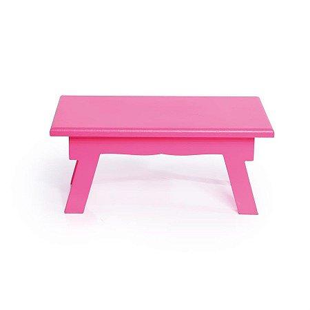 Banquinho de Mesa Baixo Pink 21x14x8,5 - 2 Unidades