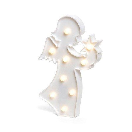 Luminoso Anjo com Led Branco - 2 Unidades