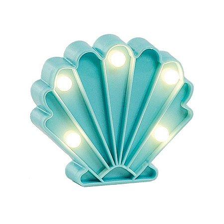 Luminoso Concha do Mar com Led Azul - 2 Unidades