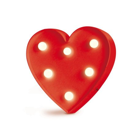 Luminoso Coração com Led Vermelho - 2 Unidades