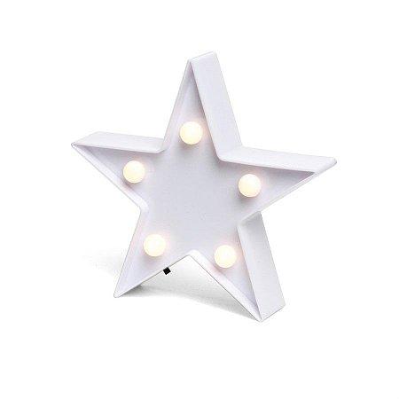 Luminoso Estrela com Led Branco - 2 Unidades