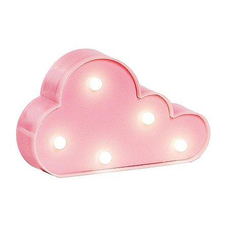 Luminoso Nuvem com Led Rosa Claro - 2 Unidades