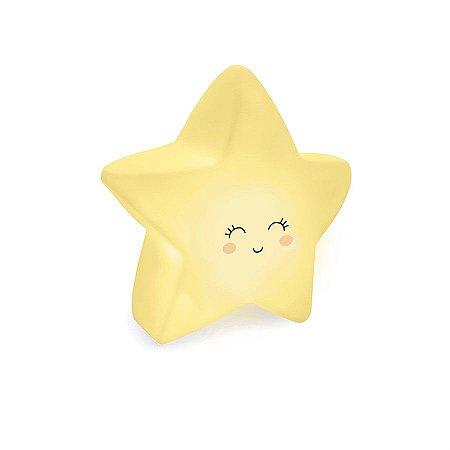 Mini Luminaria Estrela Amarelo - 2 Unidades