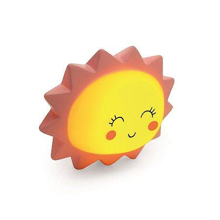 Mini Luminaria Sol Amarelo Rosa - 2 Unidades