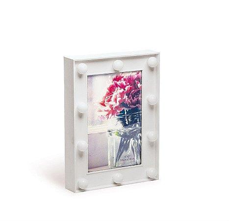 Porta Retrato com Led Branco 14x3x19 - 2 Unidades