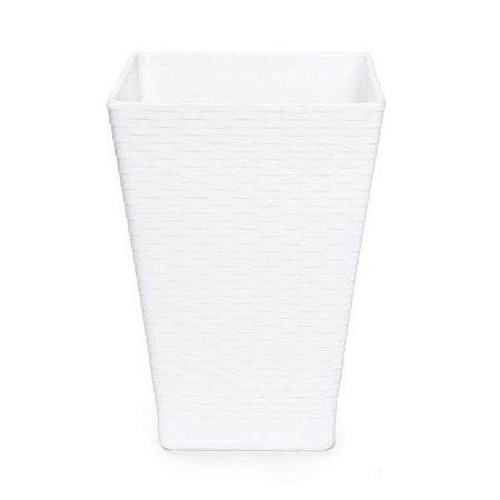 Vaso Quadrado Branco 13,8x13,8x20 - 1 Unidades