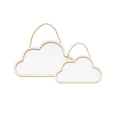 Conjunto Nuvens De Madeira Branco C/1 Un