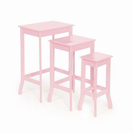 Conjunto de Mesas Quadradas Rosa - 1 Unidade