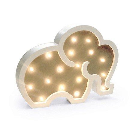 Led De Madeira Elefante C/1 Un
