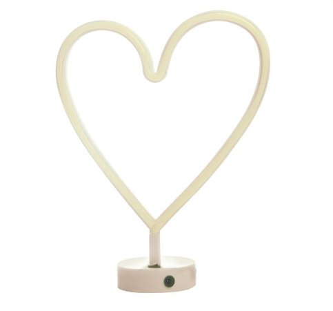 Silhueta de Led Coração Branco 29x10x30,5 - 1 Unidade