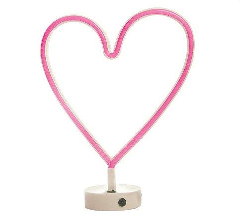 Silhueta de Led Coração Pink 29x10x30,5 - 1 Unidade