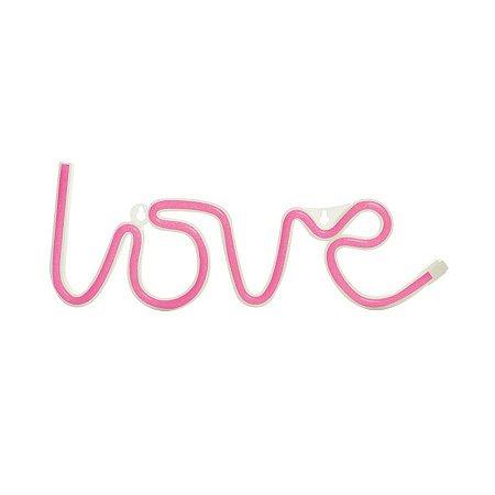 Silhueta de Led Love Rosa 36,5x2x13,5 - 1 Unidade