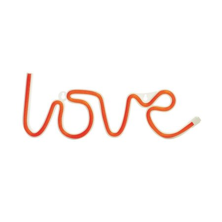 Silhueta De Led Love Vermelho 36,5X2X13,5 C/1 Un