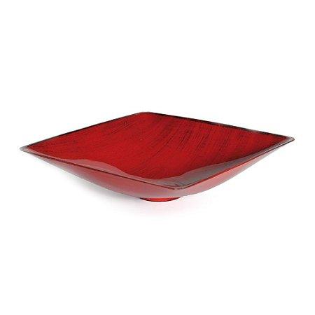 Base Plástica Quadrada Alta Vermelho com Preto M