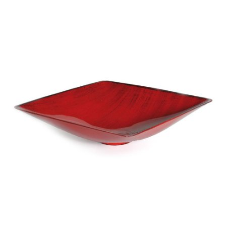 Base Plástica Quadrada Alta Vermelho com Preto P