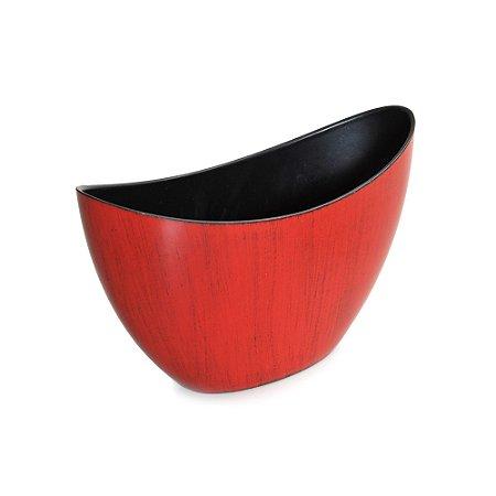 Base Canoa Plástico Vermelho com Preto P