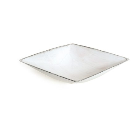 Base Plástica Quadrada Alta Branco Preto P