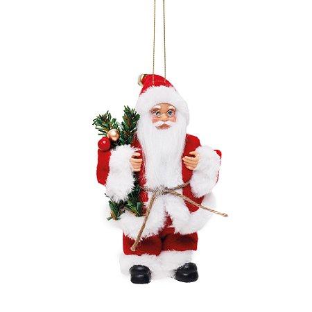 Noel com Pinheiro e Frutas Vermelho e Branco M - Jogo com 3 Peças