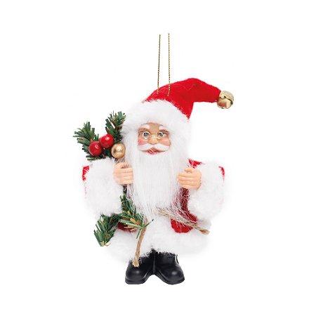 Noel com Pinheiro e Frutas Vermelho e Branco P - Jogo com 3 Peças