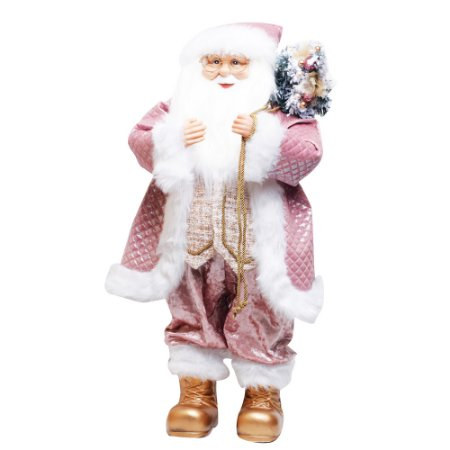 Noel em Pé Rosa Claro e Branco G - 1 Unidade