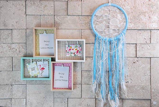 Filtro dos Sonhos Azul Claro - 76 x 25 cm