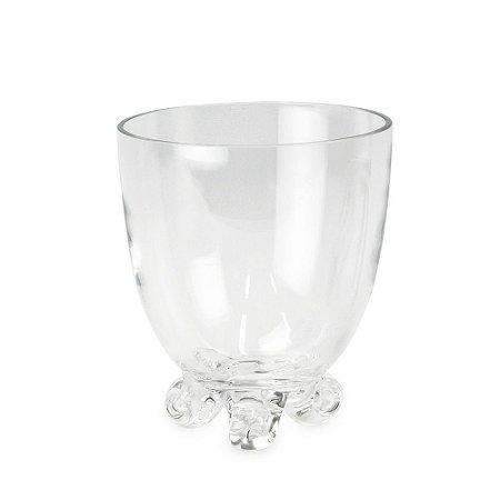 Vaso de Vidro Cônico com Pé P