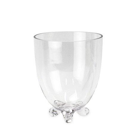 Vaso de Vidro Cônico com Pé M