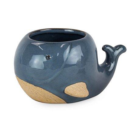 Vasinho de Cerâmica com Baleia M