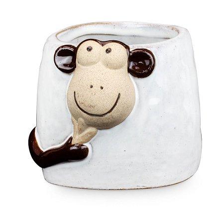 Caneca de Cerâmica com Macaco
