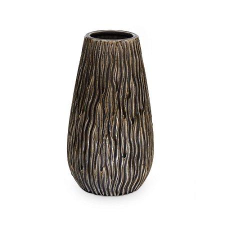 Vaso de Cerâmica com Cônico Textura Marrom P