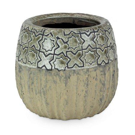 Vaso de Cerâmica com Patinado P
