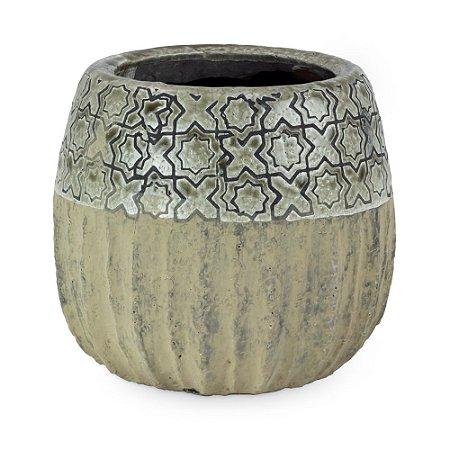 Vaso de Cerâmica com Patinado M