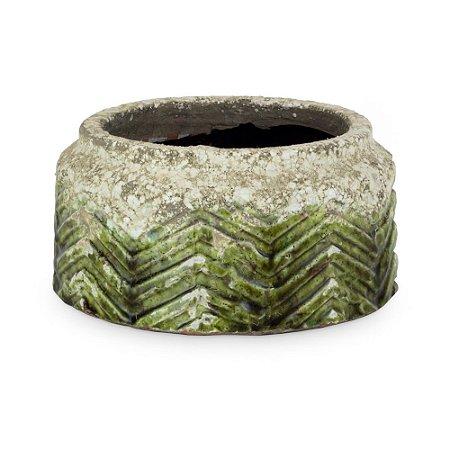 Vaso de Cerâmica com Misssoni M