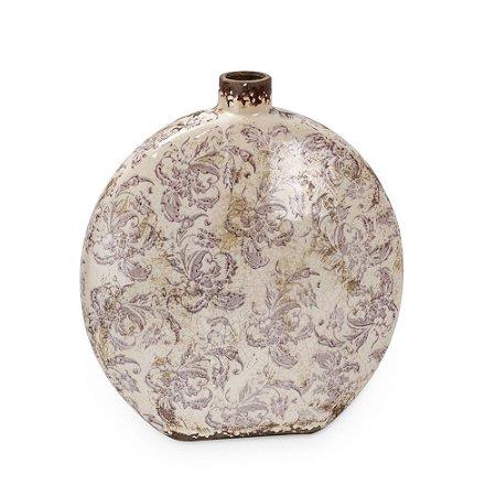 Vaso de Cerâmica com Oval