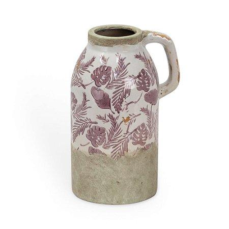 Vaso de Cerâmica com com Alça