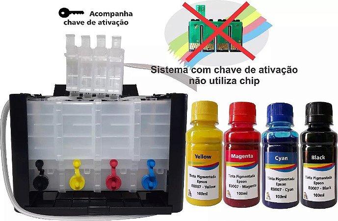 Bulk ink para epson xp241 xp 441 Com chave de ativação  400ml de tinta pigmentada