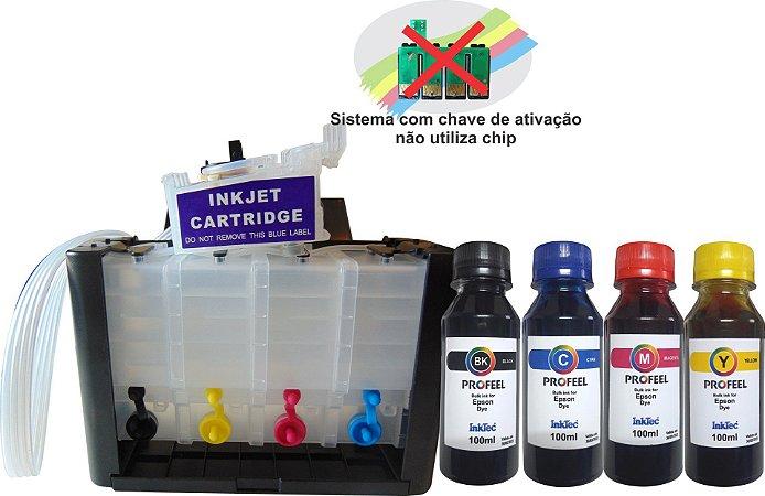 Bulk ink para epson xp241 xp 441 Com chave de ativação 400ml de tinta Corante