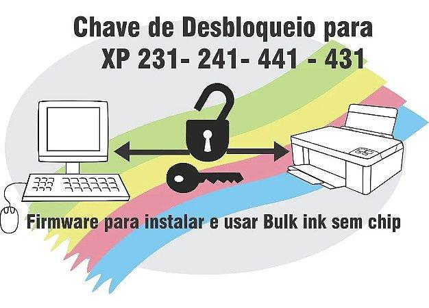 Chave para desbloquear impressoras epson xp241 xp441