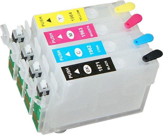 Cartucho Recarregavel para epson XP214 XP411 XP204 XP401 sem tinta