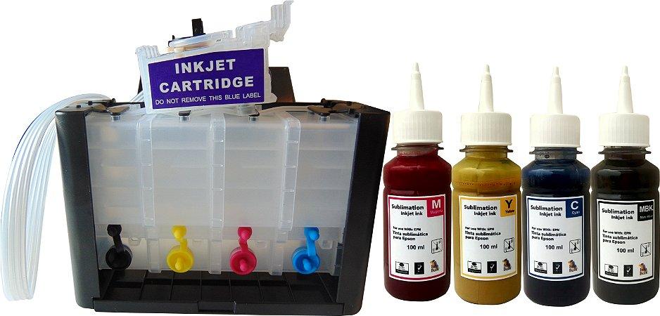 Bulk ink para epson xp241 xp 441 xp 231 Com chave de ativação tinta sublimatica
