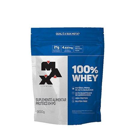 100% Whey Refil - Concentrado - (900g) - Max Titanium