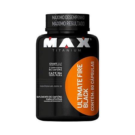 Cafeína Fire Black 60 Cápsulas Max Titanium