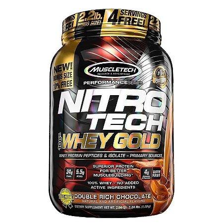 100% Whey gold Nitro Tech 1kg Muscletech