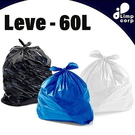 Saco para Lixo - 60 Litros - Leve