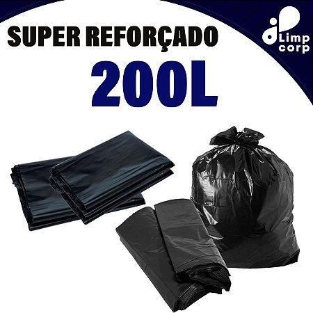 Saco para Lixo - 200 Litros - Super Reforçado - 100 unidades