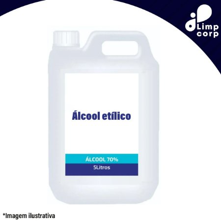 Álcool Etílico 70% - 5 litros