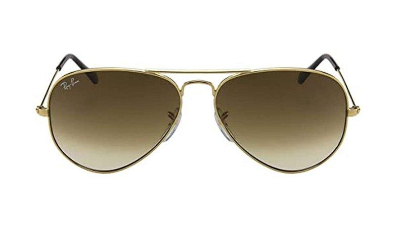 Óculos de Sol Ray-Ban Aviador Dourado Feminino / Masculino 0RB3025l 001/5158