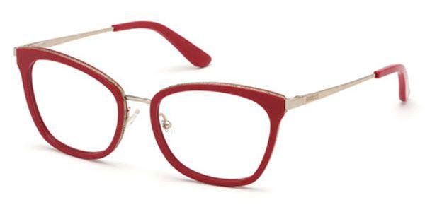 Óculos Guess Vermelho Gatinho Metal Feminino GU 2706 52 068