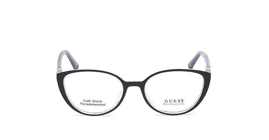 Óculos Guess Gatinho Preto GU 3044 54005