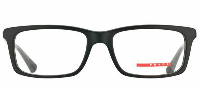 Óculos Prada Sport Eyeglasses PS 02cv 1ab1o1 azul e vermelho